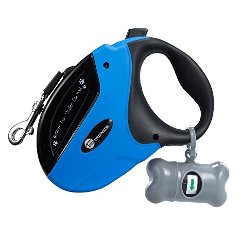 using a retractable leash to teach dog to heel