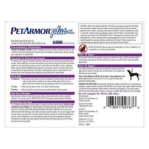 petarmor plus flea treatment for dogs