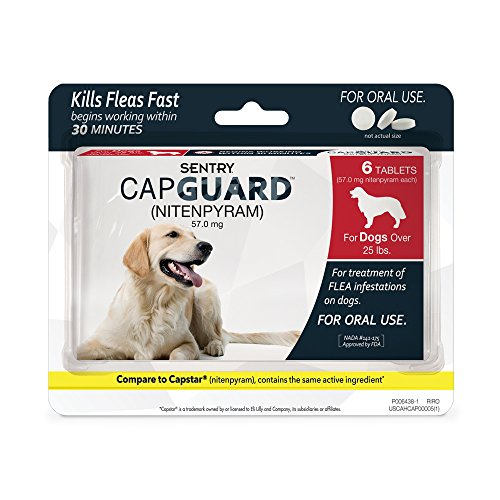 Sentry CapGuard Flea Tablets - Flea Pills for Dogs