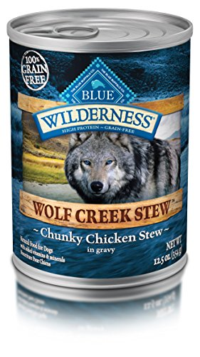 Blue Wilderness chunky canned dog food