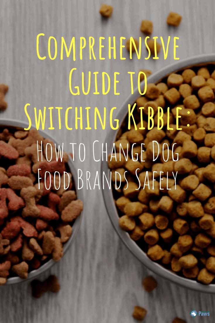 How to Change Dog Food Brands Safely - Pinterest