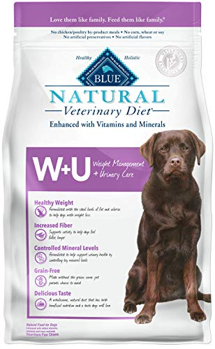 Blue Buffalo natural veterinary diet weight management and urinary health care dog food
