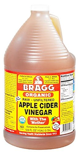 Bragg organic raw unfiltered apple cider vinegar for hydrochloric acid deficiency and flea treatment