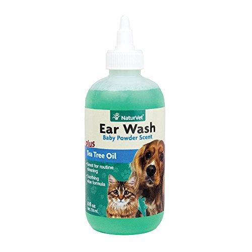 Naturvet ear wash baby powder plus tea tree oil aloe vera cleaning dogs