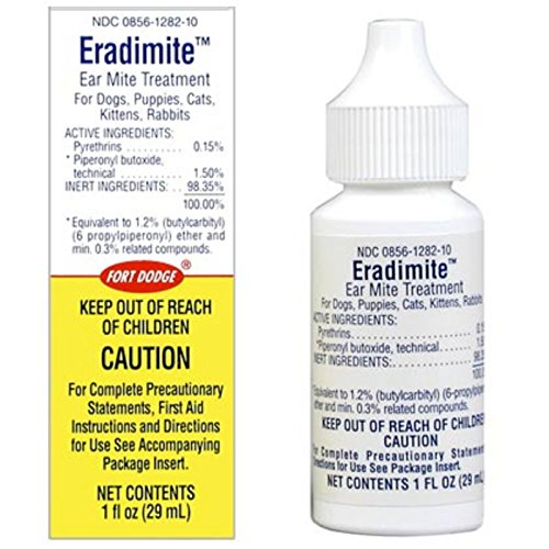 otomite plus eradimite ear mite treatment for dogs puppies cats kittens rabbits and pet sharks