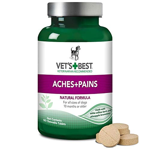 Vet's best veterinarian recommended aches pains natural formula pain reliever chewable tablets