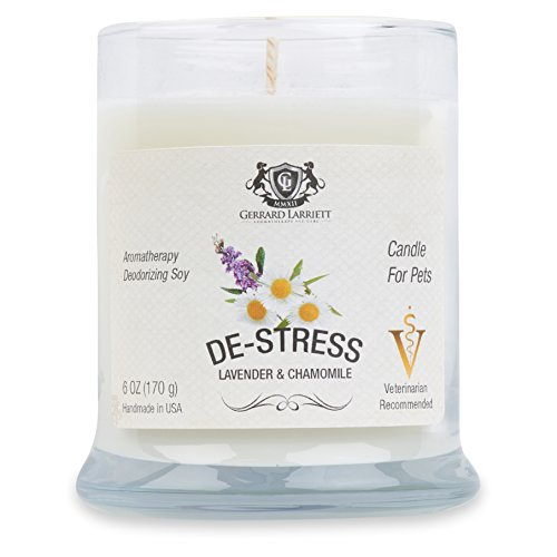 Gerrard Larriett De-Stress lavender chamomile calming aromatherapy soy candle for pets