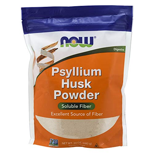 NOW psyllium husk powder soluble fiber to increase stool size softness promote defecation
