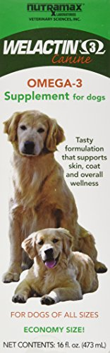 NutraMax Welactin canine omega 3 fish oil supplement skin coat joint wellness health
