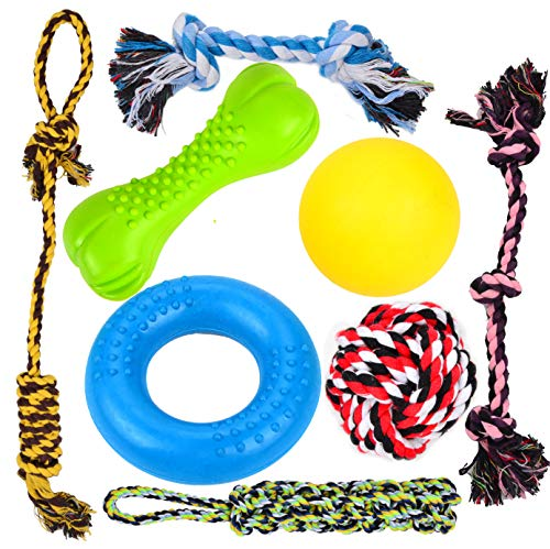 Youngever durable dog chew toys rubber nylon rope no bones for teething puppies