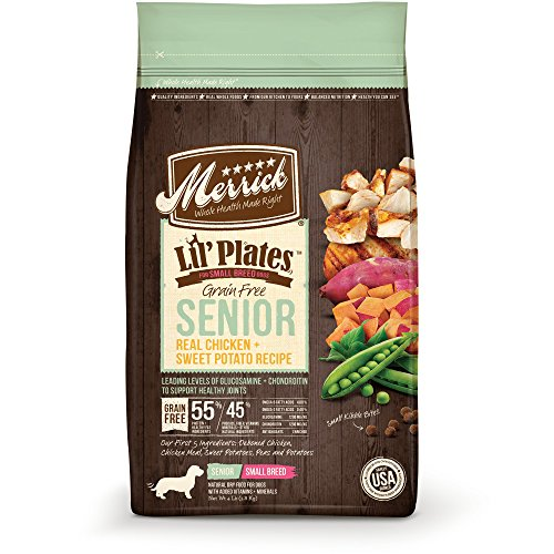 merrick lil' plates for small breed dogs grain free senior sweet potato