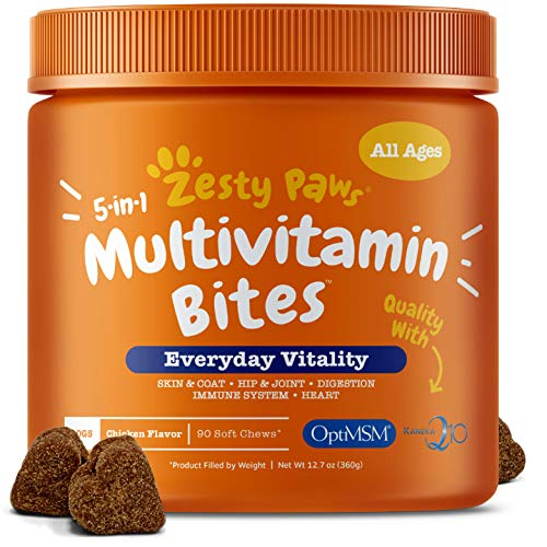 zesty paws multivitamin bites dog health supplement treat