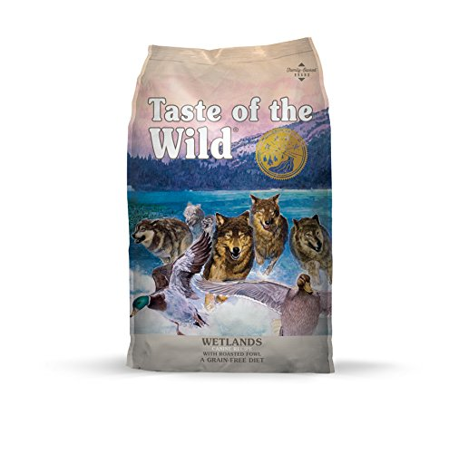 Taste of the Wild Wetlands flavor grain free dog food with roasted fowl duck