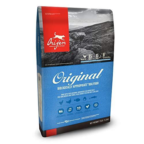 Orijen Original biologically appropriate dog food good choice for active dogs