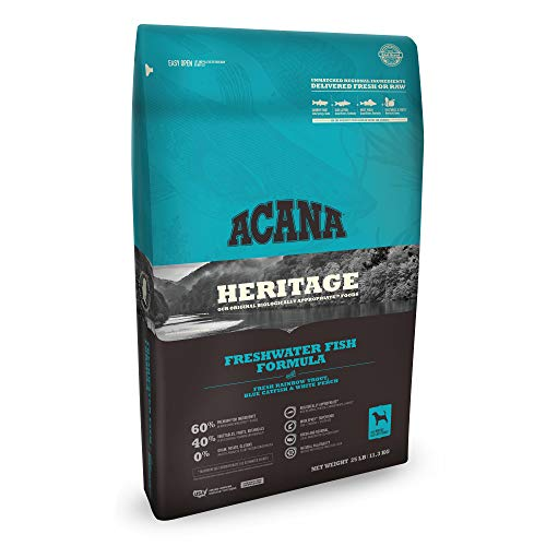 Acana heritage freshwater fish formula delivered fresh or raw
