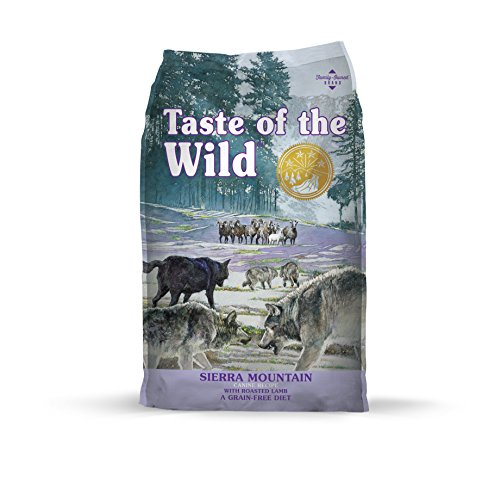 Taste of the Wild Sierra Mountain high protein grain free diet lamb wolf food