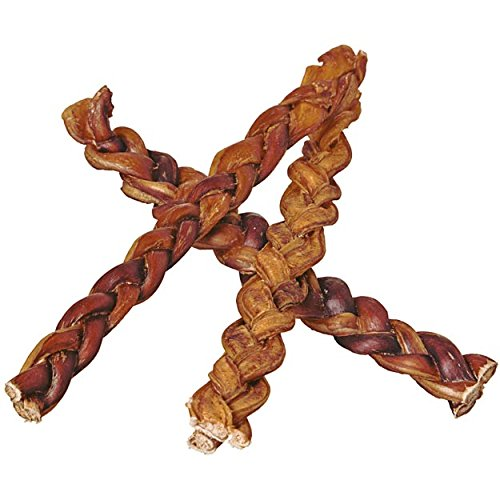braided bully sticks safe and healthy dog chew toys treat
