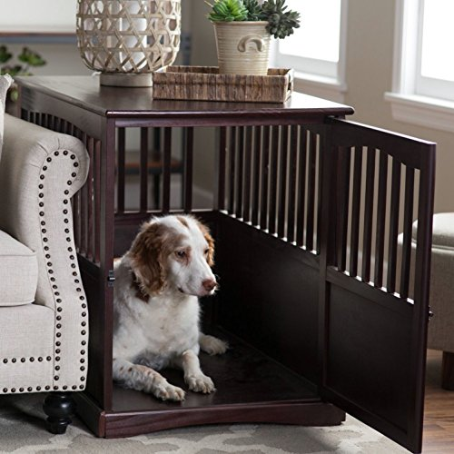 Keep your dog's crate near your bed at night