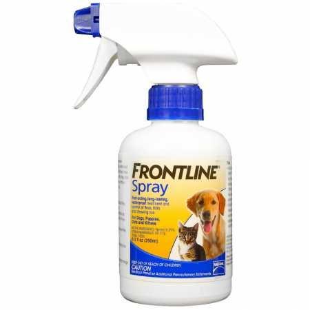 Frontline spray flea medication alternative side effects allergic response