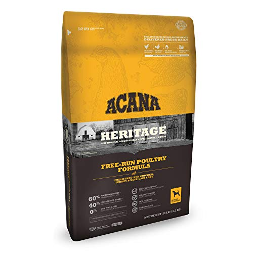 Acana company information heritage free run poultry formula dog food