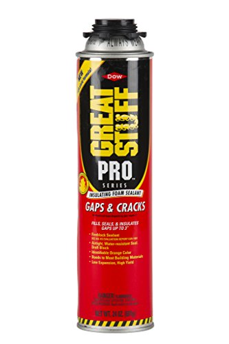 Great Stuff gaps cracks expanding foam insulation suitable for outdoor doghouses installation