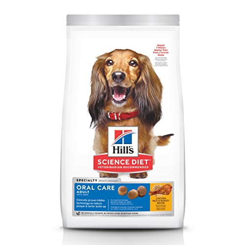 Hill's science diet oral care dry dog food for clean breath healthy mouth