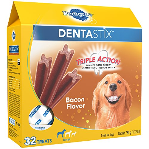 Tastiest dental chew most delicious bacon flavored dog treat freshens breath