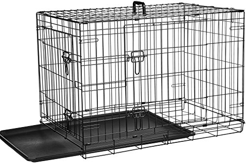 How to assemble a dog crate properly insert plastic pan help dog be comfortable