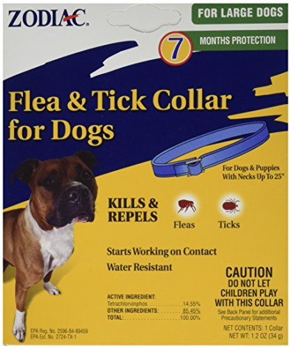 Zodiac flea tick collar dogs how does it work active ingredients