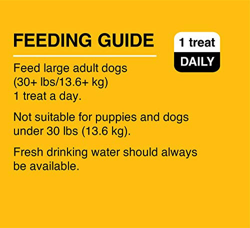 Freshen dog breath with dentastix feeding guide correct size weight age