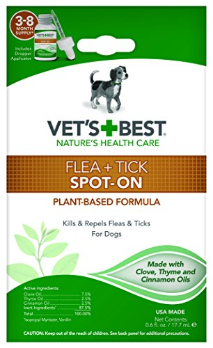 Does Vet's Best essential oil plant derived spot on formula work to kill fleas