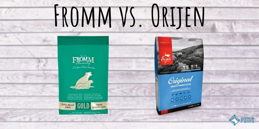 Fromm vs Orijen Dog Food Review