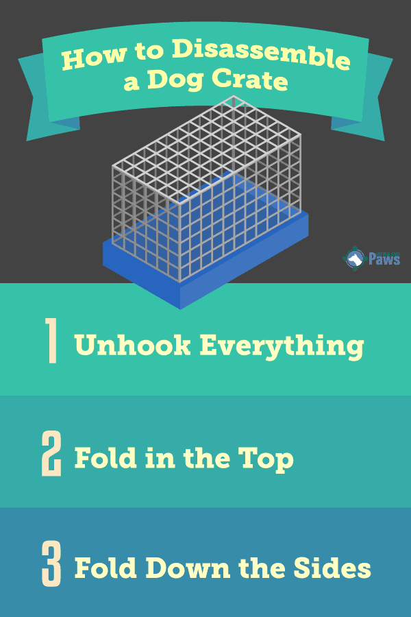 How to Collapse a Dog Crate Infographic