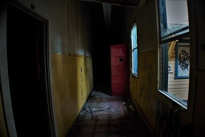 Places to avoid putting dog crate creepy abandoned hallway far from family