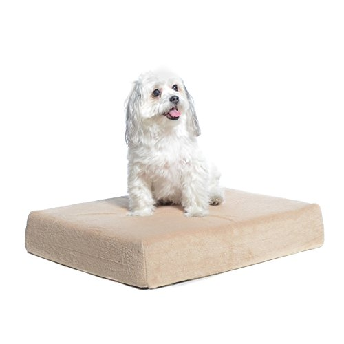 Memory foam pet bed for arthritic dogs hip problems old senior pups