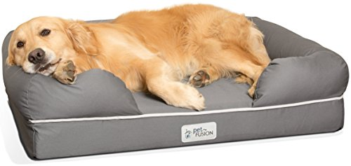 bolstered dog bed with bolsters for comfort donut for small dogs