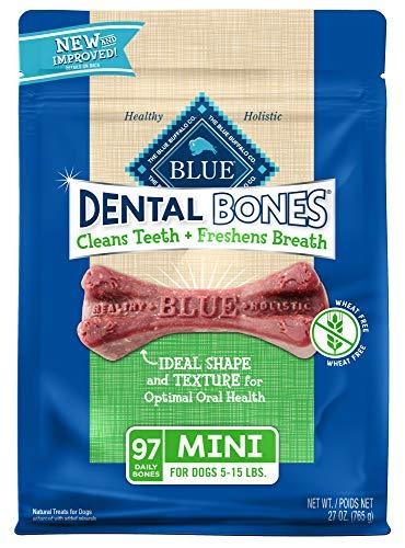 Blue buffalo dental bones clean teeth freshen breath for all dog breeds