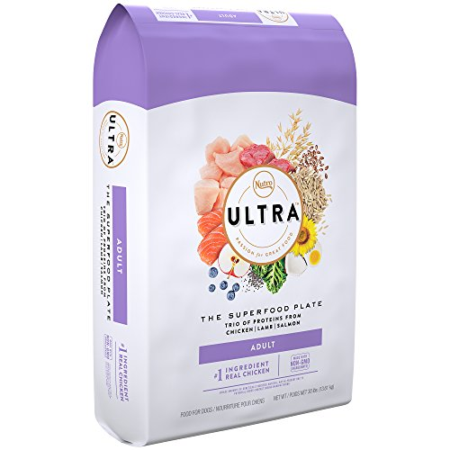 Nutro Ultra superfood adult dry dog food real chicken top ingredient protein lamb salmon