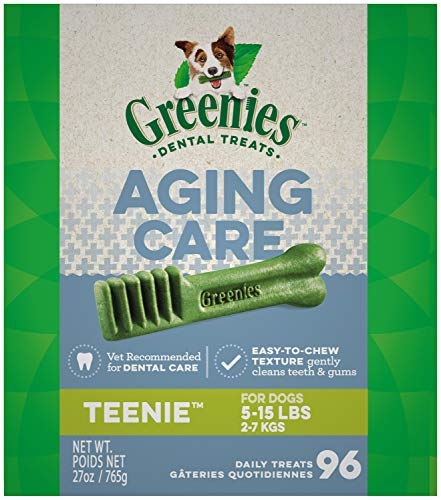 Greenies dental treats overview recommendations aging care for older senior dogs