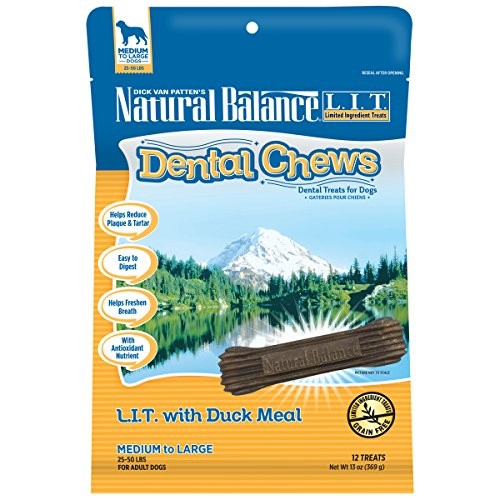 Natural balance dental chews dog treats limited ingredient duck meat