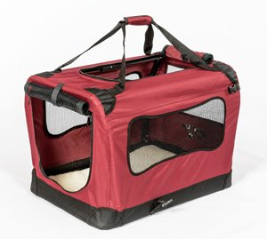 Carry small dog in soft crate how to choose for travel safety security comfort