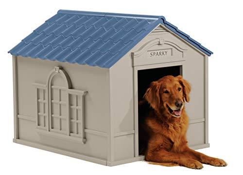 Best plastic dog house Suncast outdoor indoor durable teeth claw resistant plastic