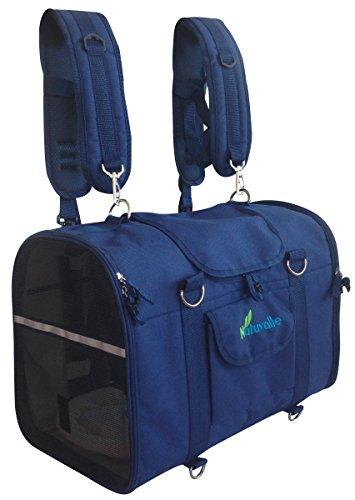 Natuvalle soft dog cat carrier backpack with shoulder straps
