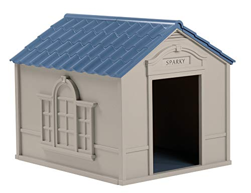 Best dog house for large breed pet canines comfortable roomy Suncast outdoor with door