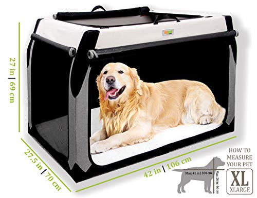 best soft dog crate for large extra XL dogs golden retriever travel kennel
