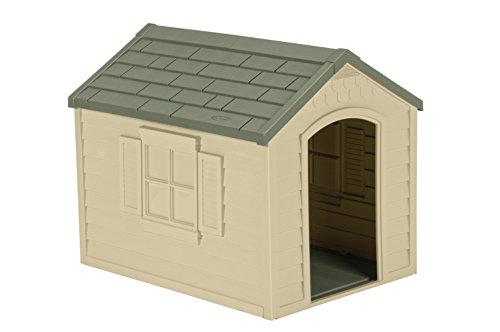 Suncast outdoor plastic dog house with door best value