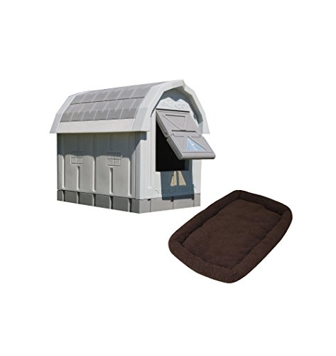 Insulated dog house heater fleece bed accessories to keep pet dog warm outside
