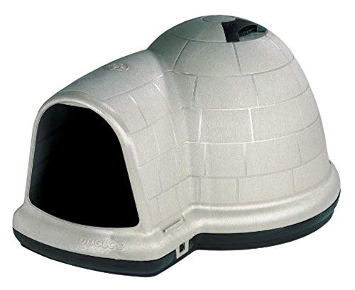 Petmate indigo dog house igloo dogloo best for medium dogs well insulated rain resistant