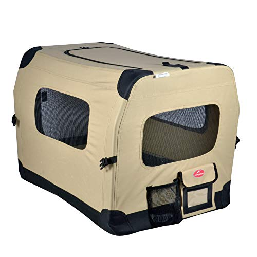 storage pockets compartments sun moon roof for canine companion in crate