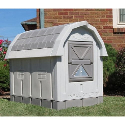 Best winter cold weather dog house ASL solutions deluxe insulated dog palace